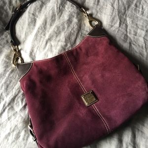 Suede Plum Dooney & Bourke Purse!!